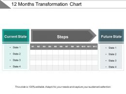 12 Months Transformation Chart Ppt Examples