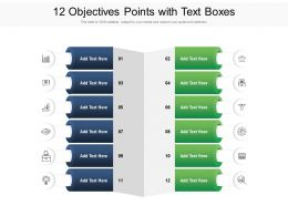 12 Objectives Points With Text Boxes