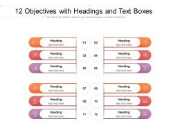 12 Objectives With Headings And Text Boxes