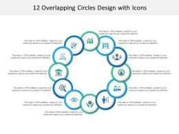 12 Overlapping Circles Design With Icons