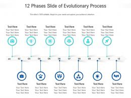 12 Phases Slide Of Evolutionary Process Infographic Template