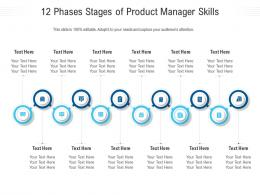 12 Phases Stages Of Product Manager Skills Infographic Template
