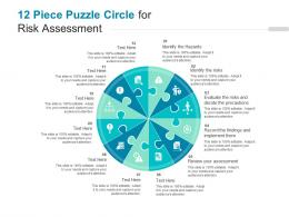 12 Piece Puzzle Circle For Risk Assessment