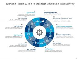 12 Piece Puzzle Circle To Increase Employee Productivity