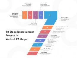 12 Stage Improvement Process In Vertical 12 Stage