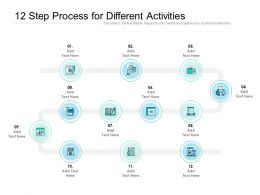 12 Step Process For Different Activities