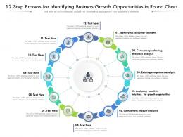 12 Step Process For Identifying Business Growth Opportunities In Round Chart