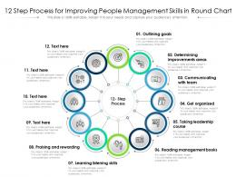12 Step Process For Improving People Management Skills In Round Chart