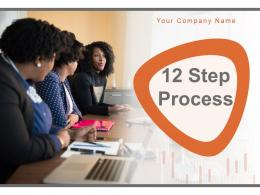 12 Step Process Hierarchy Performance Measures Infographic Market Recruitment Circular
