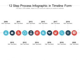 12 Step Process Infographic In Timeline Form