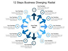 12 Steps Business Diverging Radial
