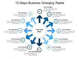12 Steps Business Diverging Radial