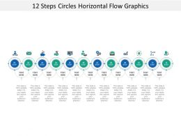 12 Steps Circles Horizontal Flow Graphics