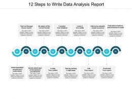 12 Steps To Write Data Analysis Report