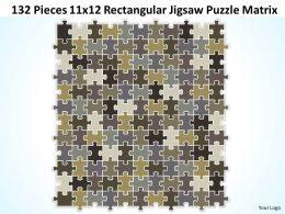 132 Pieces 11x12 Rectangular Jigsaw Puzzle Matrix Powerpoint templates 0812