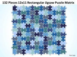 132 Pieces 12x11 Rectangular Jigsaw Puzzle Matrix Powerpoint templates 0812