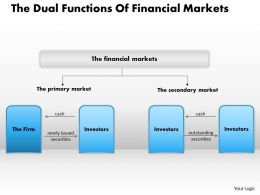 1403 The Dual Functions Of Financial Markets Powerpoint Presentation