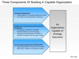 1403 Three Components Of Building A Capable Organization Powerpoint Presentation