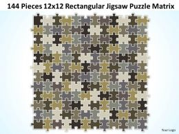144 Pieces 12x12 Rectangular Jigsaw Puzzle Matrix Powerpoint templates 0812