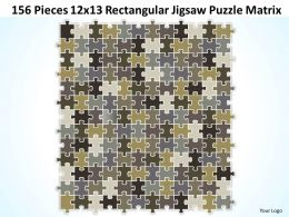 156_pieces_12x13_rectangular_jigsaw_puzzle_matrix_powerpoint_templates_0812_Slide01