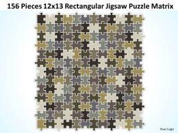156 Pieces 12x13 Rectangular Jigsaw Puzzle Matrix Powerpoint templates 0812