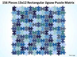 156 Pieces 13x12 Rectangular Jigsaw Puzzle Matrix Powerpoint templates 0812