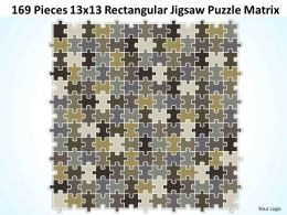 169_pieces_13x13_rectangular_jigsaw_puzzle_matrix_powerpoint_templates_0812_Slide01
