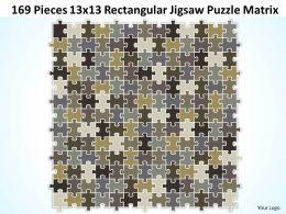 169 Pieces 13x13 Rectangular Jigsaw Puzzle Matrix Powerpoint templates 0812