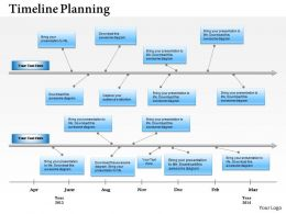 1803 Timeline Roadmap on a Horizontal Line for Product Launches Powerpoint Template