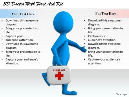 1813 3D Doctor With First Aid Kit Ppt Graphics Icons Powerpoint