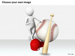 1813 3D Illustration Of Baseball Game Ppt Graphics Icons Powerpoint