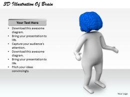 1813 3D Illustration Of Brain Power Ppt Graphics Icons Powerpoint