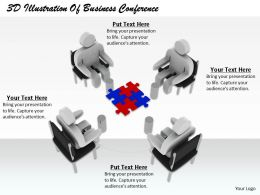 1813 3D Illustration Of Business Conference Ppt Graphics Icons Powerpoint