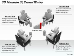 1813 3D Illustration Of Business Meeting Ppt Graphics Icons Powerpoint