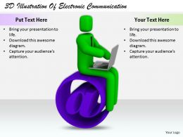 1813 3D Illustration Of Electronic Communication Ppt Graphics Icons Powerpoint