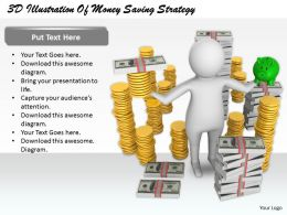 1813 3D Illustration Of Money Saving Strategy Ppt Graphics Icons Powerpoint