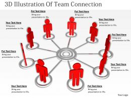 1813 3D Illustration Of Team Connection Ppt Graphics Icons Powerpoint