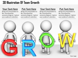 1813 3D Illustration Of Team Growth Ppt Graphics Icons Powerpoint