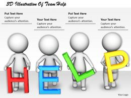 1813 3D Illustration Of Team Help Ppt Graphics Icons Powerpoint