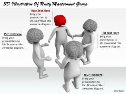 1813 3D Illustration Of Unity Mastermind Group Ppt Graphics Icons Powerpoint