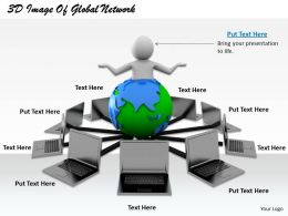 1813 3D Image Of Global Network Ppt Graphics Icons Powerpoint
