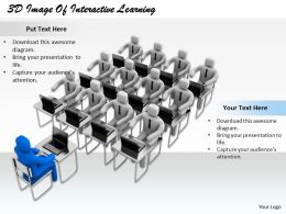 1813 3D Image Of Interactive Learning Ppt Graphics Icons Powerpoint