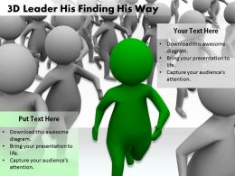 1813 3D Leader His Finding His Way Ppt Graphics Icons Powerpoint