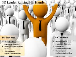 1813 3D Leader Raising His Hands Ppt Graphics Icons Powerpoint