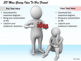 1813_3d_man_giving_idea_to_his_friend_ppt_graphics_icons_powerpoint_Slide01