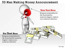 1813 3D Man Making Money Announcement Ppt Graphics Icons Powerpoint