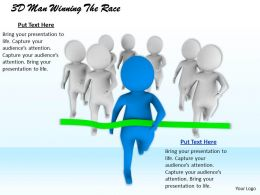 1813 3D Man Winning The Race Ppt Graphics Icons Powerpoint