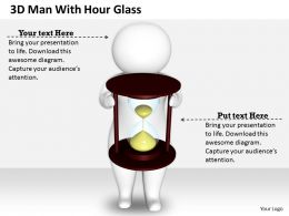 1813 3D Man With Hour Glass Ppt Graphics Icons Powerpoint