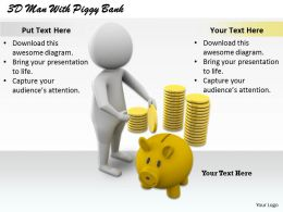 1813 3D Man With Piggy Bank Ppt Graphics Icons Powerpoint