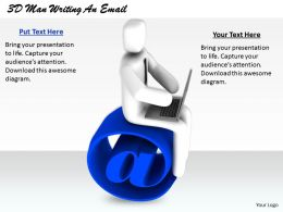 1813 3D Man Writing An Email Ppt Graphics Icons Powerpoint
